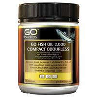 GOHealthy Рыбий Жир ОМЕГА-3 высокой концентрации, без запаха 2000мг мягкие капсулы, 230шт., Новая Зеландия
