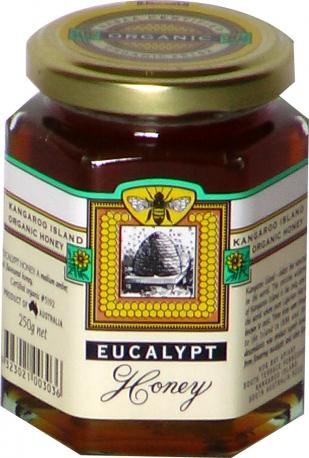 Мёд Эвкалиптовый Органик 250 г, сделан пчелами на острове Кенгуру, Австралия