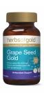 HerbsOfGold Золотой Ресвератрол из виноградных косточек, омоложение всего организма, 30000 +, 60 табл., Австралия