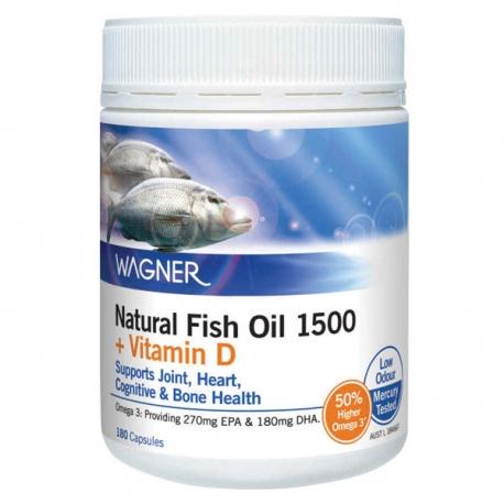 WAGNER OMEGA-3 Премиум ОМЕГА-3 рыбий жир 1500мг+вит.D, 180 капс., Австралия