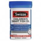 SWISSE Омега-3 премиум рыбий жир (жеват.капс.)для детей 1-12 лет, 500мг х 60шт., Австралия