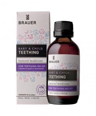 Brauer Микстура (или гель) для Облегчения Прорезывания зубов у детей, 100мл, Австралия